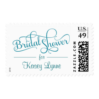 Bridal Shower Fancy Rustic Script Postage