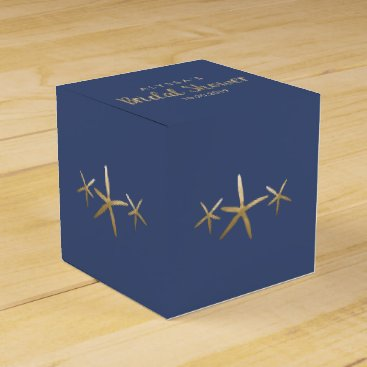 Beach Themed Bridal Shower Favor Box, Customize, Beach Starfish Favor Box