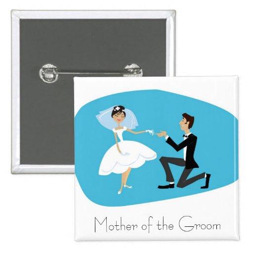 Bridal Shower Favor-Mother of the Groom Pinback Button