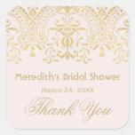 Bridal Shower Favor Sticker   Gold Vintage Glamour