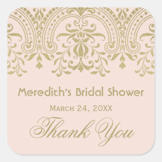 Bridal Shower Favor Sticker | Gold Vintage Glamour
