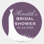 Bridal Shower Favor Sticker   Wedding Gown