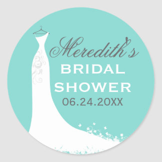 Bridal Shower Favor Sticker | Wedding Gown