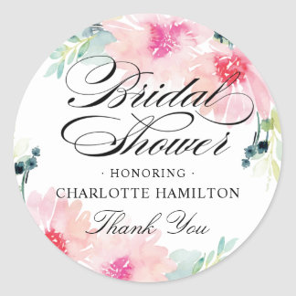 Bridal Shower Favor Stickers | Daisy Watercolor