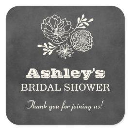 Bridal Shower Favor Stickers   Vintage Chalkboard