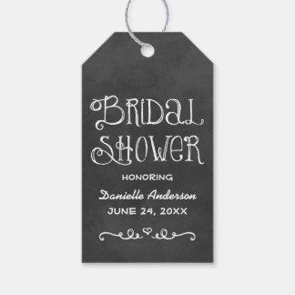 Bridal Shower Favor Tag   Black Chalkboard Charm