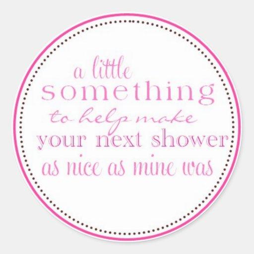 Bridal Shower Favor Tag Classic Round Sticker | Zazzle