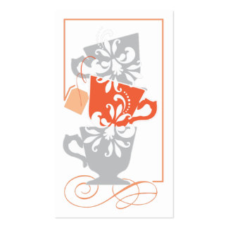 Bridal Shower Favor Tag - Tea Double-Sided Standard Business Cards (Pack Of 100)