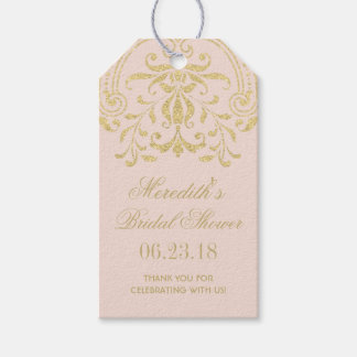 Bridal Shower Favor Tags | Gold Vintage Glamour Pack Of Gift Tags