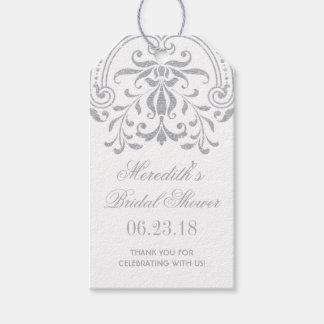 Bridal Shower Favor Tags | Silver Vintage Glamour
