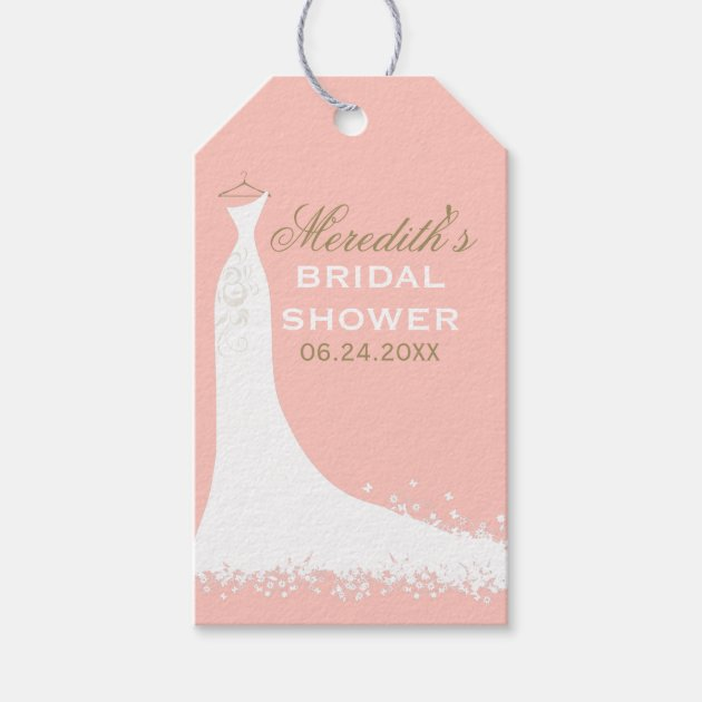 bridal shower favor tags wedding gown pack of gift tags 13