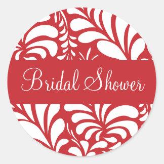 Bridal Shower Fern Flora Sticker Seal