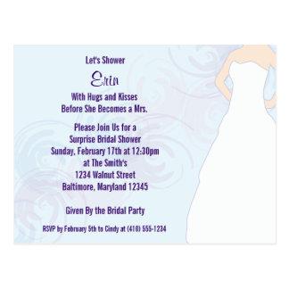 Bridal Shower Flora Invite Postcards