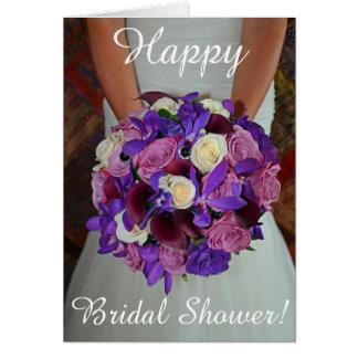 Bridal Shower floral bouquet Card