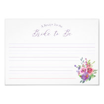 Bridal Shower Floral Customizable Recipe Card