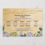 Bridal Shower Floral Itinerary Bachelorette Invite