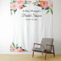 Bridal Shower Floral Photo Booth Backdrop