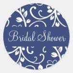 Bridal Shower Floral Vine Envelope Sticker Seal