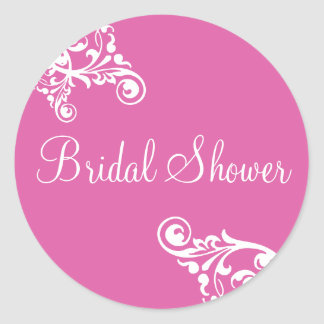 Bridal Shower Flourish Envelope Sticker Seal