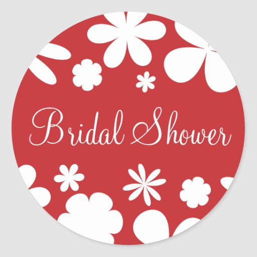 Bridal Shower Flower Power Sticker Seal