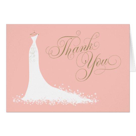 Bridal Shower Folded Thank You Card