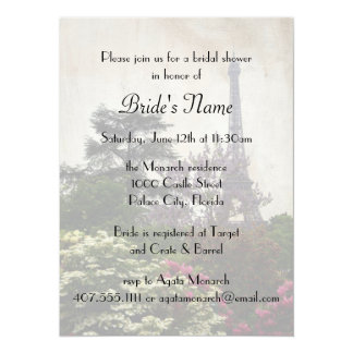 Bridal Shower for Eiffel Tower Theme 5.5x7.5 Paper Invitation Card