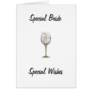 BRIDAL SHOWER FOR SPECIAL BRIDE GREETING CARD