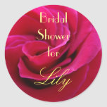 Bridal Shower for Your Name stickers Brides Rose