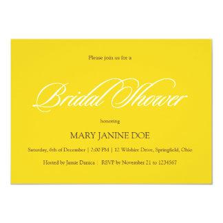 "Bridal Shower Freesia Yellow 4.5"" X 6.25"" Invitation Card"