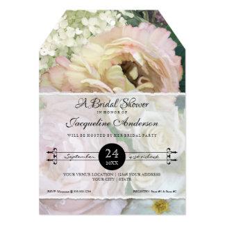 Bridal Shower French Flower Market Peony Hydrangea Card