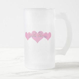 Bridal Shower Frosted Glass Beer Mug