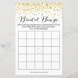 Bridal Shower Game - Bridal Bingo