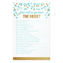 Bridal Shower Game How well do you know the bride? Stationery