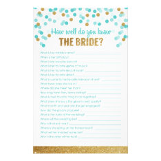 Bridal Shower Game How Well Do You Know The Bride? Stationery at Zazzle