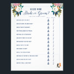 """Bridal Shower Games Guess Who Bride or Groom Game Flyer<br><div class=""""desc"""">Romantic painted florals bridal shower game. Backer color is customizable. Don&#39;t want to print your own bridal shower games, Use these flyers instead. Order quantity as needed; Bridal Shower Game &quot;Guess Who Bride or Groom?&quot; The gorgeous painted florals are by Create the Cut. Find them on Creative Market https://crmrkt.com/7WdAX, Etsy...</div>"""