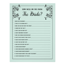 Bridal Shower Game Templates Gifts On Zazzle - Bridal shower game templates
