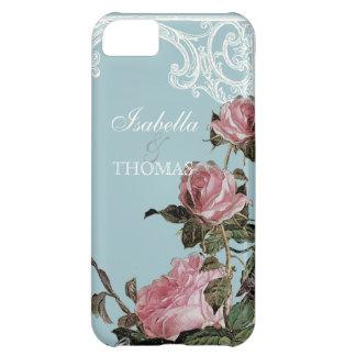 Bridal Shower Gift Matching, Trellis Rose Vintage Case For iPhone 5C