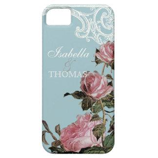 Bridal Shower Gift Matching, Trellis Rose Vintage iPhone 5 Cases