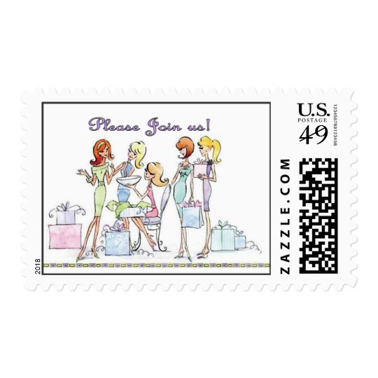 Bridal Shower Girl Party Postage Stamps