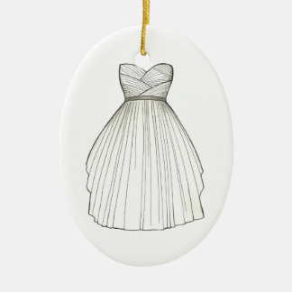 Bridal Shower Gown Bride Wedding Dress Ornament