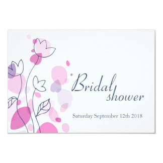 Bridal Shower graphic modern flower petals invite