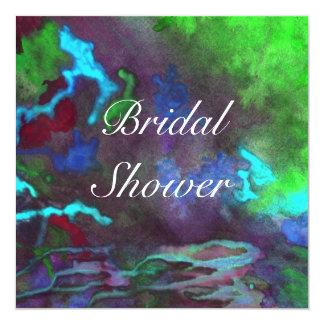 Bridal Shower Green Fusion 2 Wedding Invitation