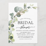 """Bridal Shower Greenery Eucalyptus Succulent Invitation<br><div class=""""desc"""">Eucalyptus Greenery Succulent Botanical Watercolor Spring Wedding Bridal Shower Invitations on white background - includes beautiful and elegant script typography with modern botanical leaves and greenery for the special Bride to Be celebration.</div>"""