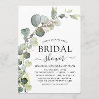 Bridal Shower Greenery Eucalyptus Succulent Invitation