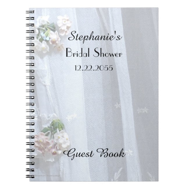 Bridal Shower Guest Book, Vintage Lace