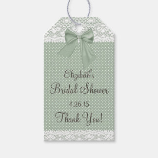 Bridal Shower Guest Favor- Thank You Pack Of Gift Tags