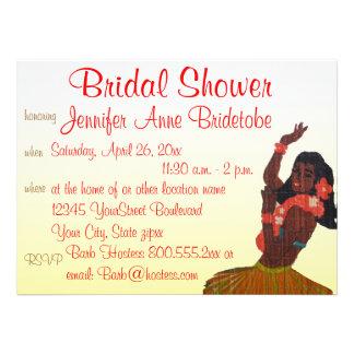 Bridal Shower Hawaii Luau Theme Personalized Invitation