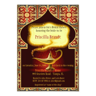 Bridal Shower Honoring the Bride, Arabian night Card