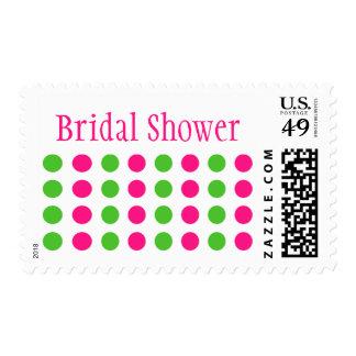 Bridal Shower (Hot Pink / Lime Green Stamp)