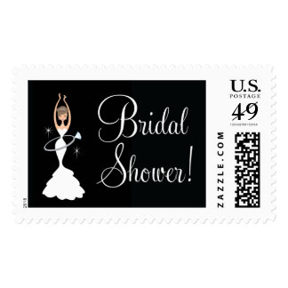 Bridal Shower Hula Hoop Bride with Ring Postage
